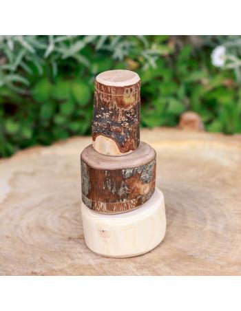 Set de troncos apilados